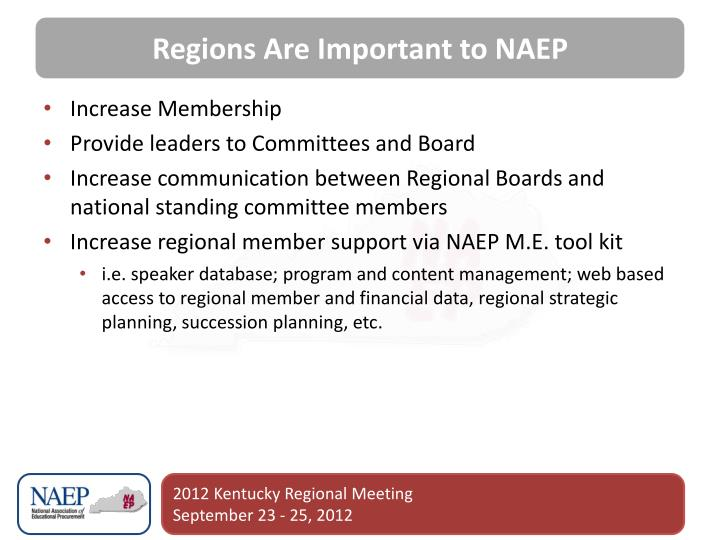 Regions Are Important to NAEP