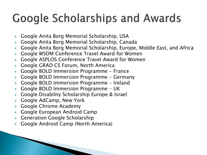 Google Scholarships and