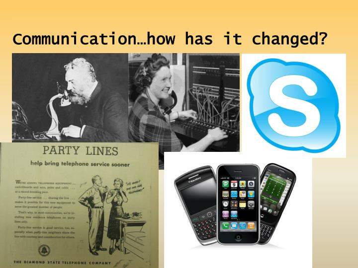 Communication…how has it changed?
