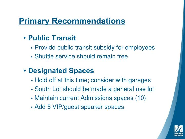 Primary Recommendations