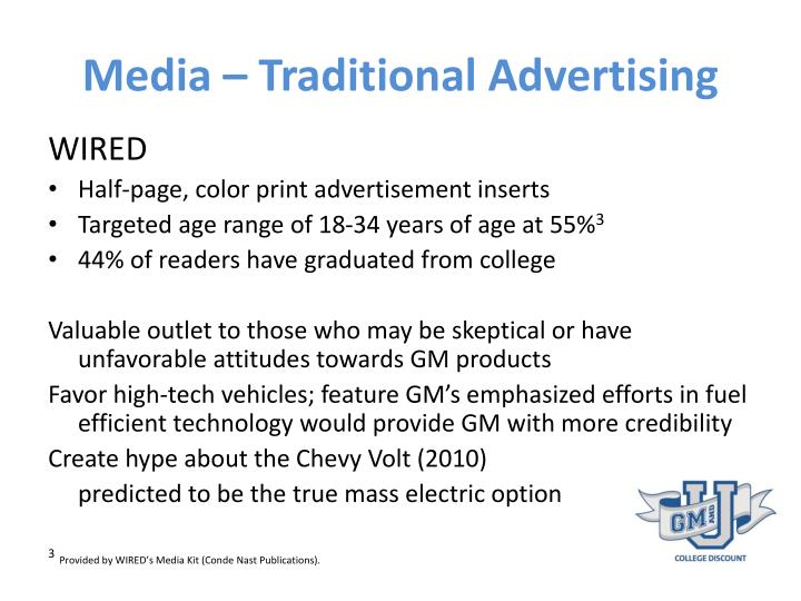 Media – Traditional Advertising