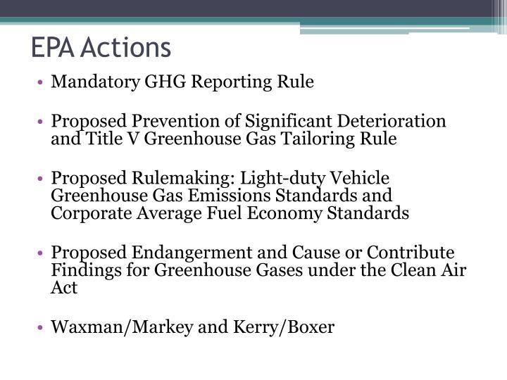 EPA Actions