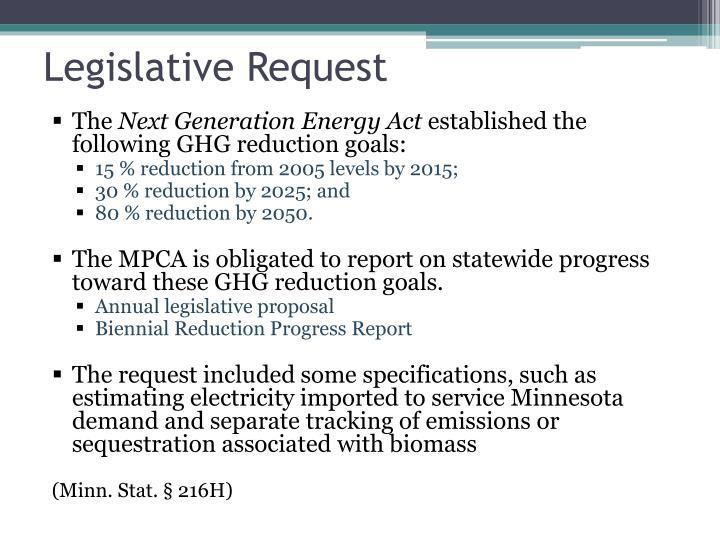 Legislative Request