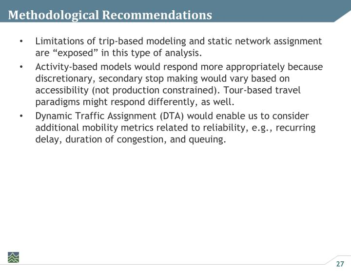 Methodological Recommendations
