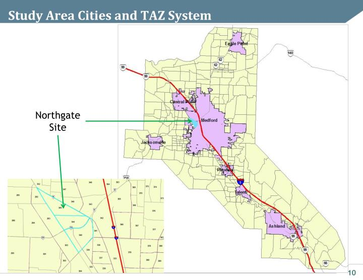 Study Area Cities and TAZ System