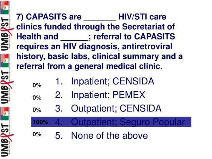 7) CAPASITS are _______ HIV/STI care clinics funded through the Secretariat of Health and ______; referral to CAPASITS requires an HIV diagnosis, antiretroviral history, basic labs, clinical summary and a referral from a general medical clinic.