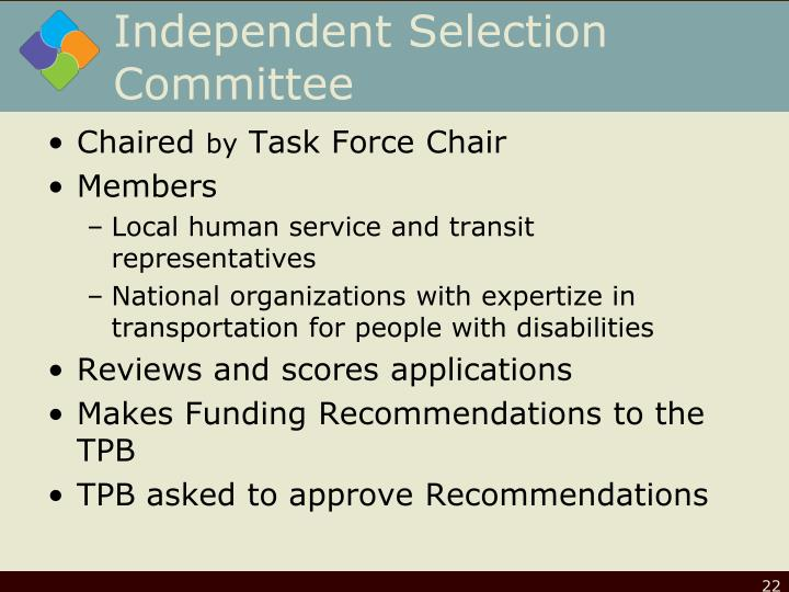Independent Selection Committee