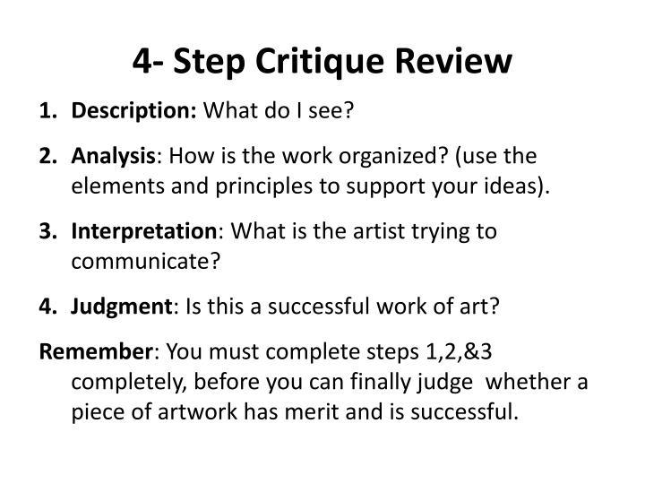 4- Step Critique Review