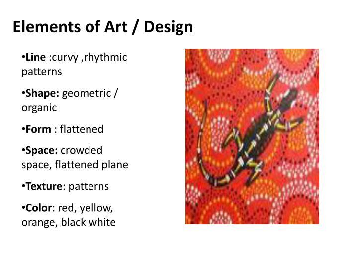 Elements of Art / Design