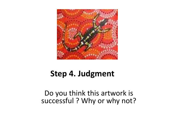 Step 4. Judgment