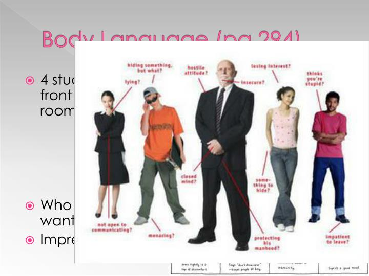 Body Language (pg 294)