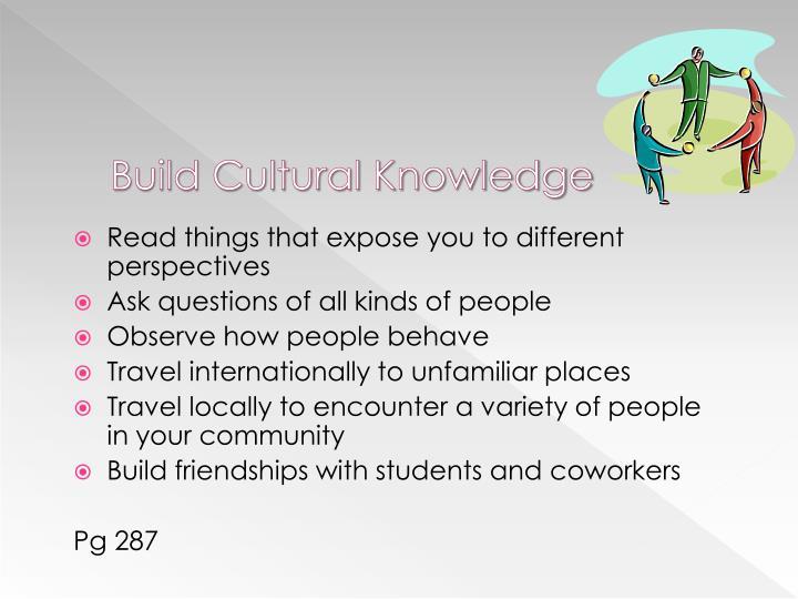 Build Cultural Knowledge