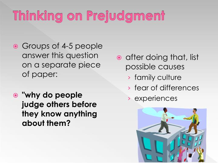 Thinking on Prejudgment