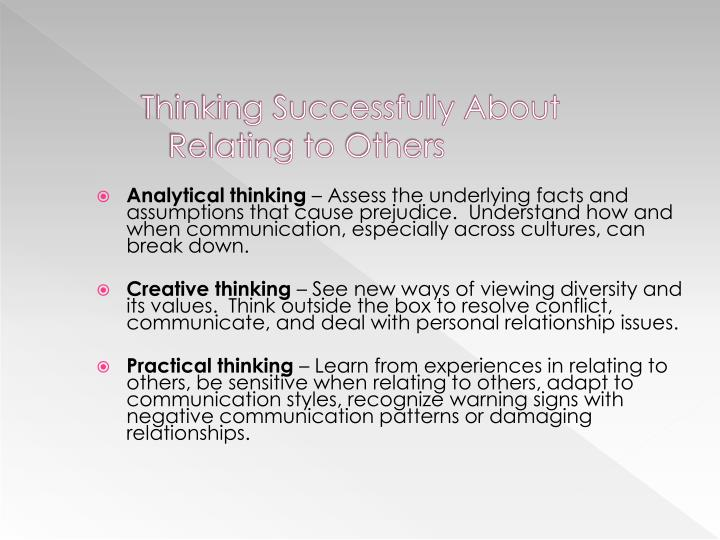 Thinking Successfully About