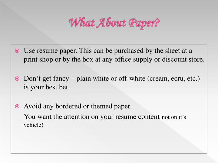 What About Paper?