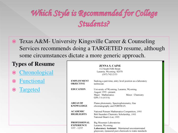 Which Style is Recommended for College Students?