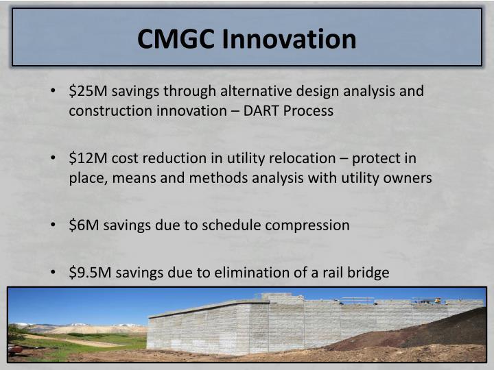 CMGC Innovation