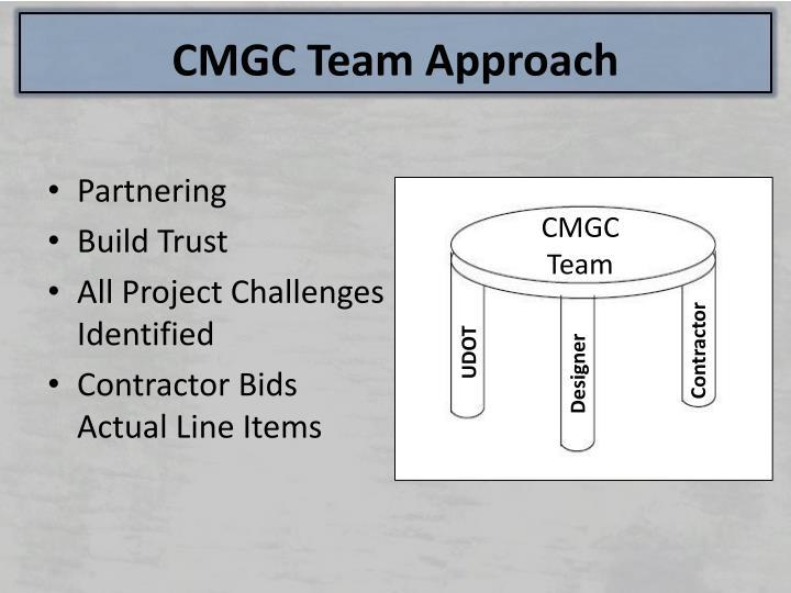 CMGC Team Approach