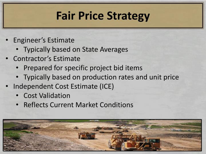 Fair Price Strategy