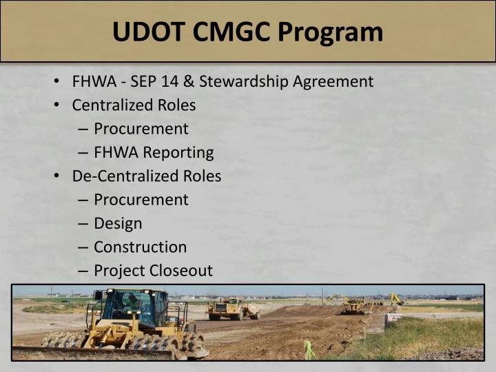 UDOT CMGC Program