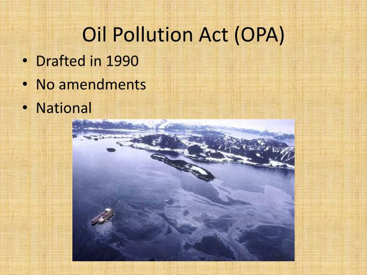 oil pollution act opa