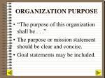organization purpose