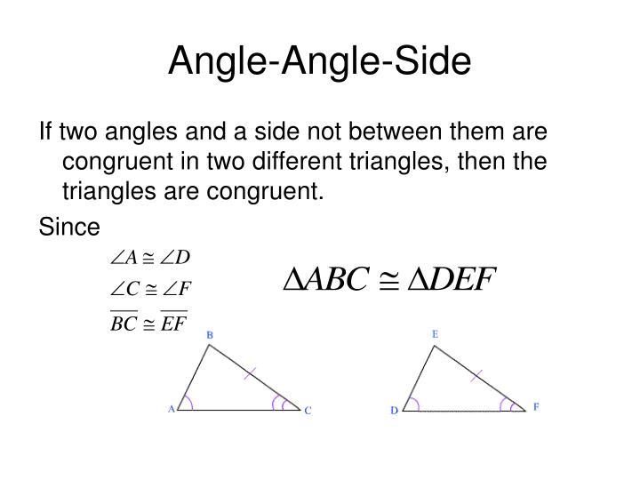 Angle-Angle-Side