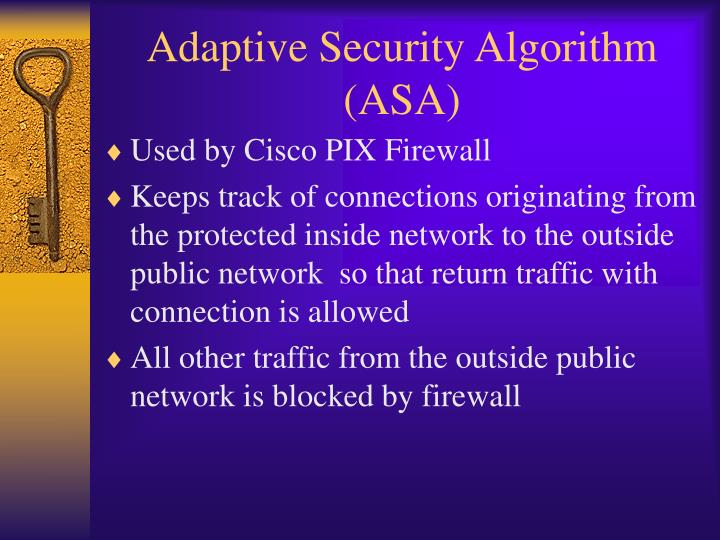 Adaptive security algorithm asa