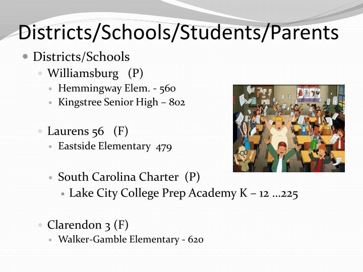 Districts/Schools/Students/Parents