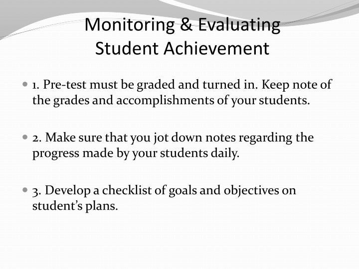Monitoring & Evaluating