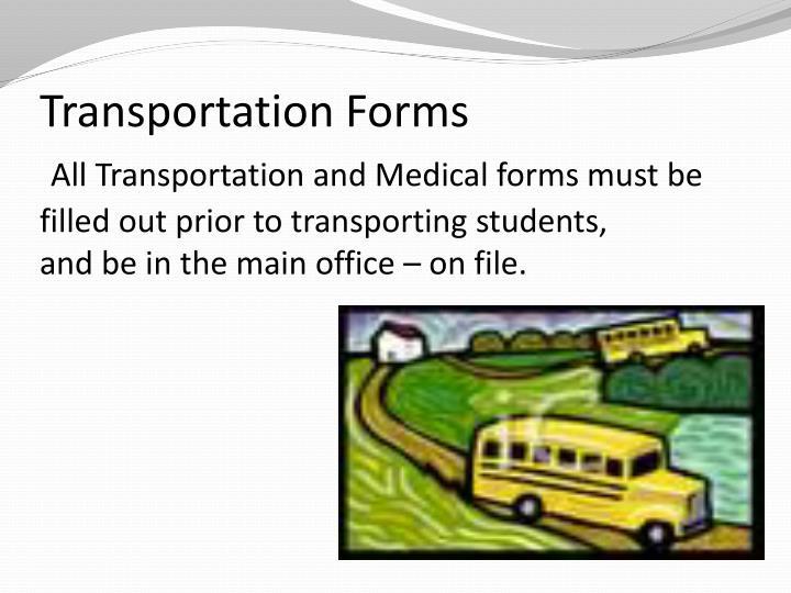 Transportation Forms