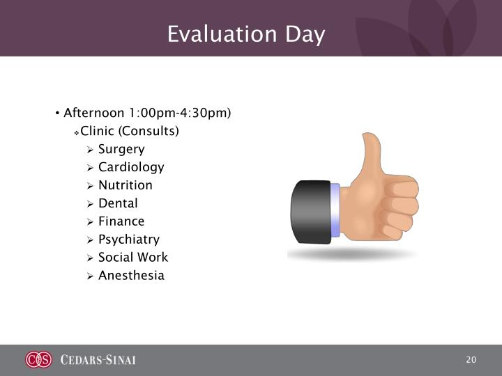 Evaluation Day