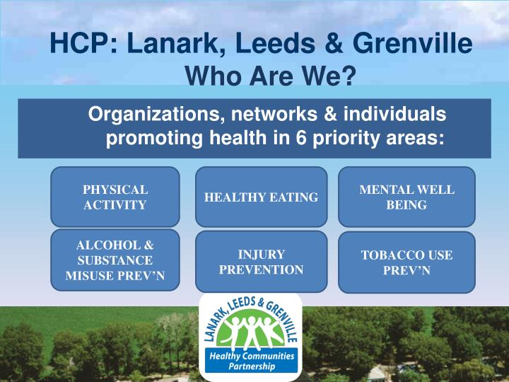 Hcp lanark leeds grenville who are we