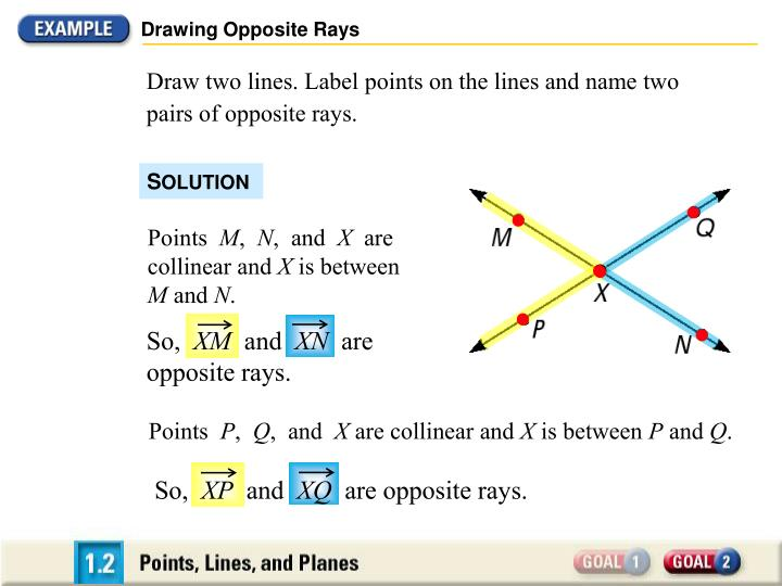Drawing Opposite Rays