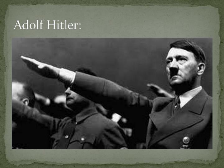 Adolf Hitler: