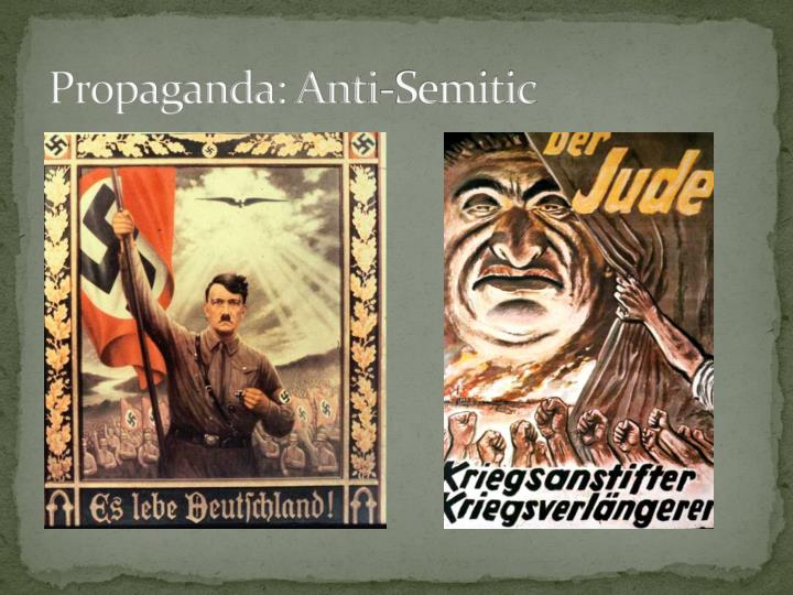 Propaganda: Anti-Semitic