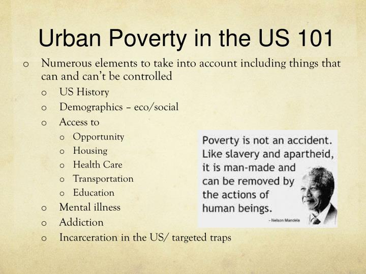 Urban Poverty in the US 101