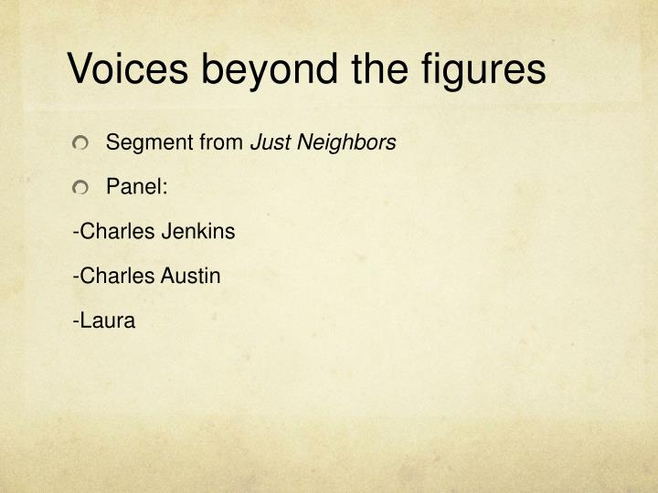 Voices beyond the figures