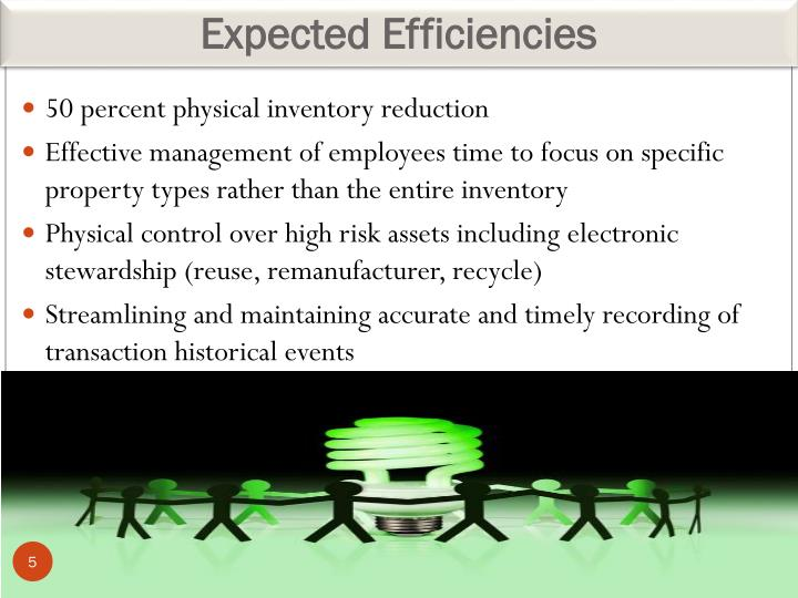 Expected Efficiencies