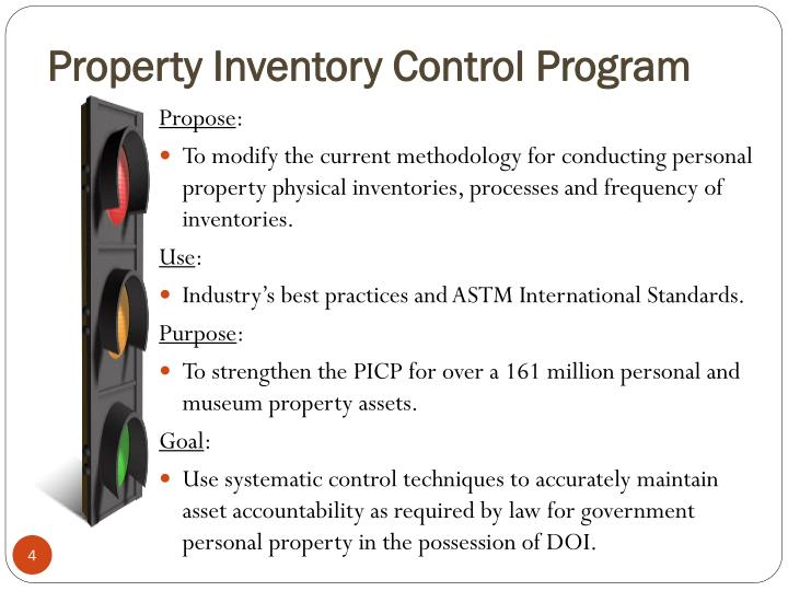 Property Inventory Control Program