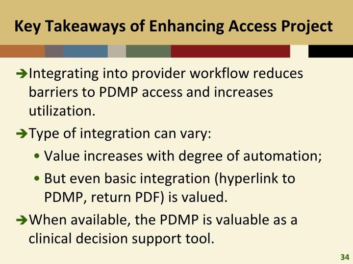 Key Takeaways of Enhancing Access Project