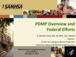 pdmp overview and federal efforts