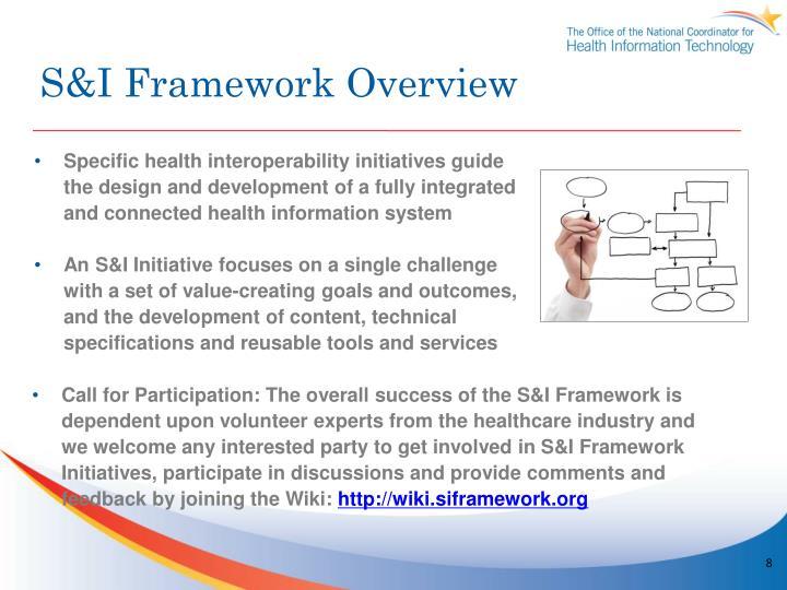 S&I Framework Overview
