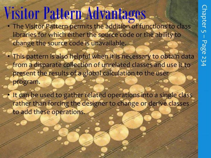 Visitor Pattern Advantages