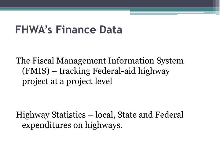 FHWA's Finance Data