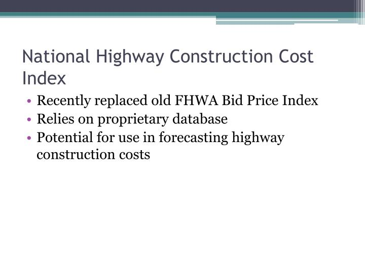 National Highway Construction Cost Index