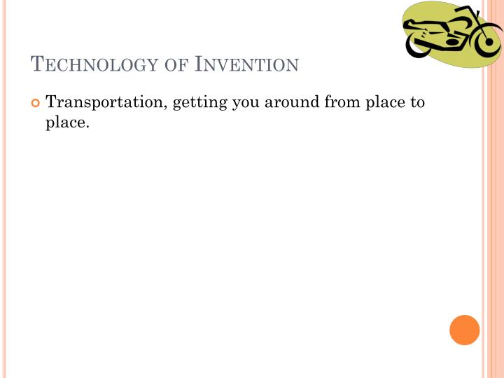 Technology of Invention