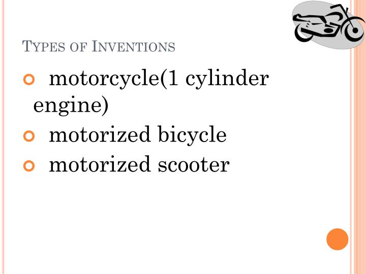 Types of Inventions