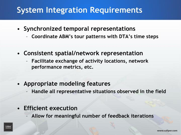 System Integration Requirements