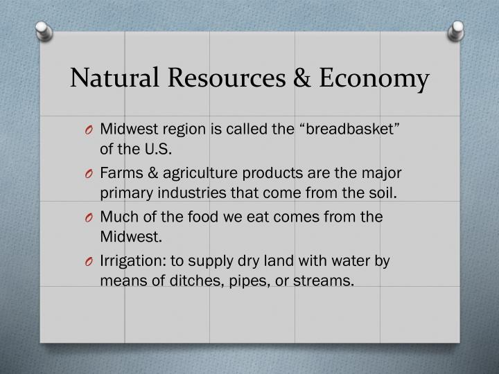Natural Resources & Economy